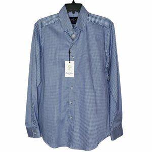 Robert Graham Blue Mills Long Sleeved Sport Shirt